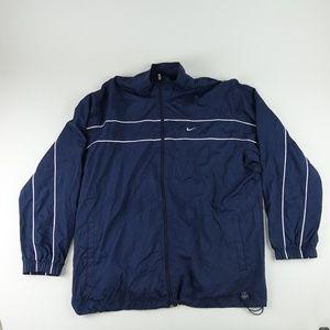 Nike Men Size XXL Windbreaker Jacket Blue A7500